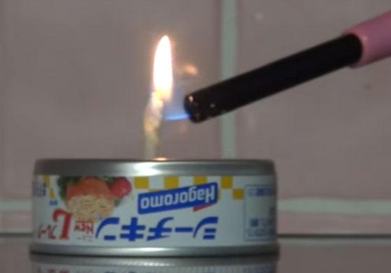 ツナ缶を使ったランプ